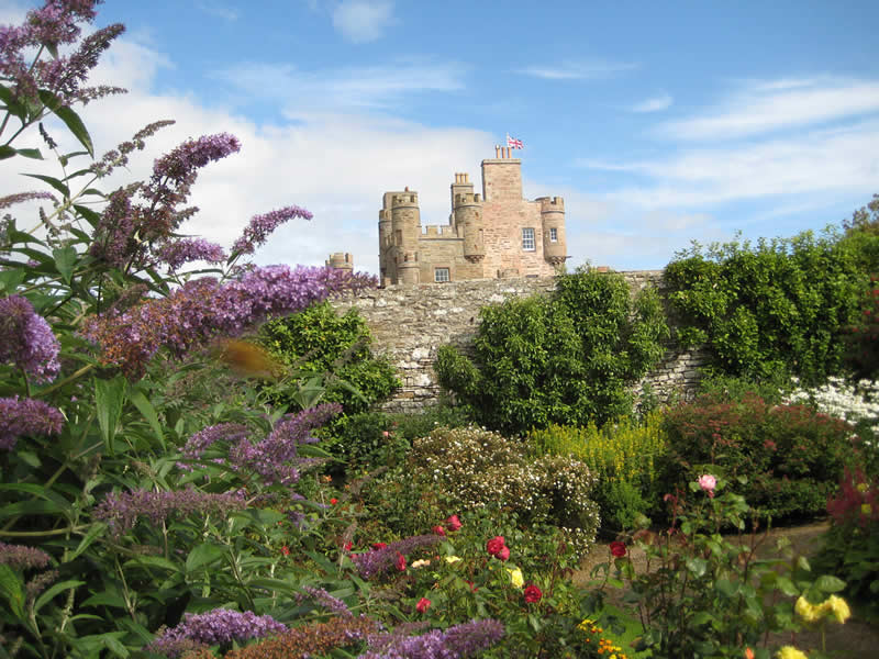 Castle of Mey, picture taken within walled garden.