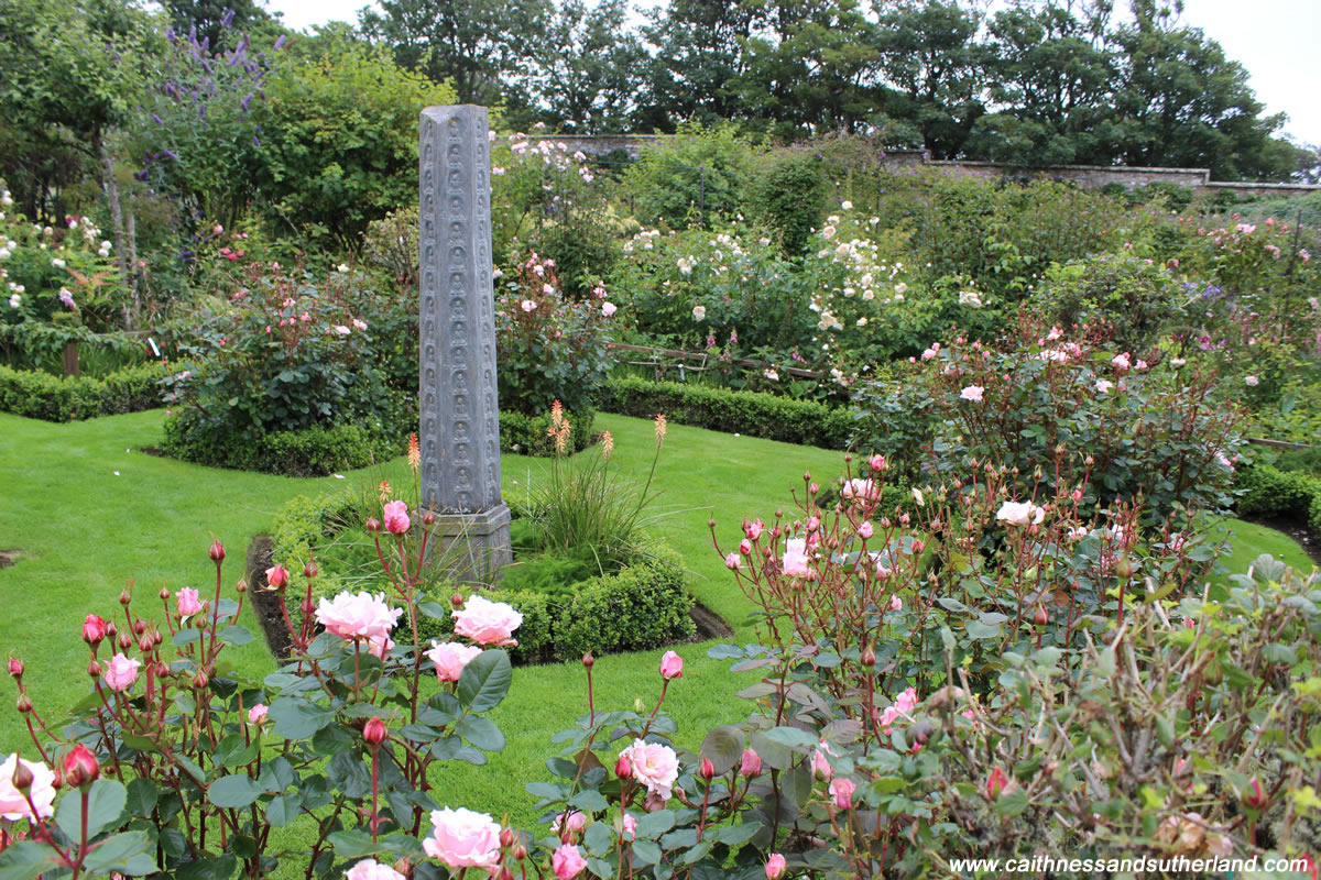 Rose garden at dunbeath castle in caithness scotland for Garden design amazon