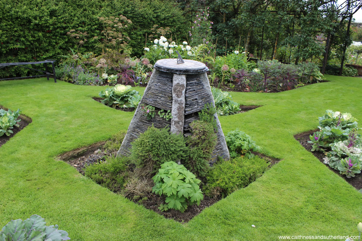 Delightful Slate And Stone Sundial Acts As A Focal Point In One Of The Gardens At  Dunbeath Castle