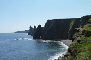 Duncansby Head, Lighthouse and Stacks of Duncansby, Caithness, Scotland
