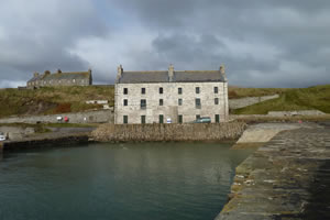 Keiss - Keiss Castle, harbour and beach, Caithness, Highlands of Scotland