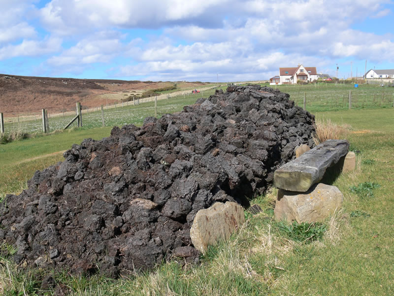 Peat stack used to dry peat