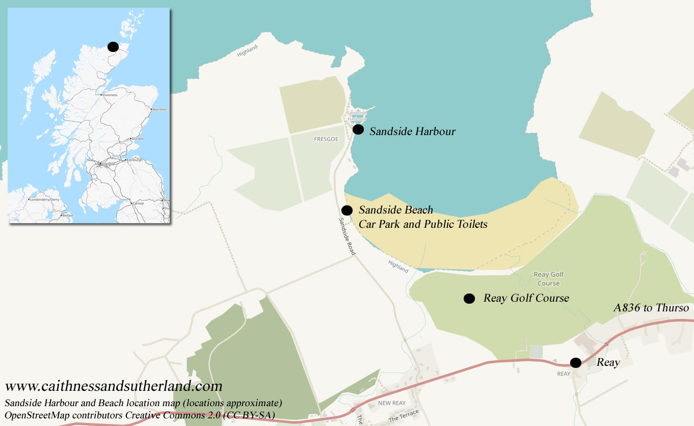 Sandside Beach location map
